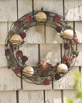 Bird Wreath with Suet Balls