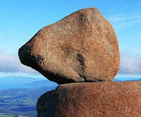 The Rocking Stone, which no longer rocks, Mt Wellington - 31 March 2007