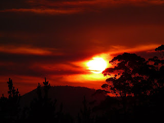 Sunset courtesy of FT from Vinces Saddle - 22 Mar 2007