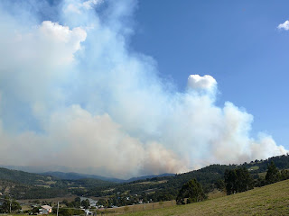 View from Port Huon, Forestry burns - 9 April 2007