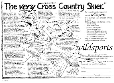 The Very Cross Country Skier - Wildsports advert from Wild Magazine, Jul/Aug/Sep 1988