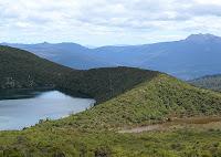 North end of Hartz Lake, showing easy ridge - 10 Nov 2007
