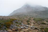 Hartz Peak in mist - 5th April 2010