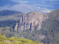 Cathedral Rock and Huonville from South Wellington - 13th April 2009