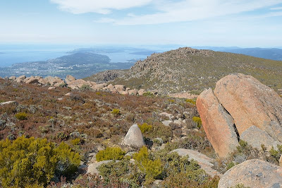 Storm Bay, Bruny Island and D'Entrecasteaux Channel from the south end of the Mount Wellington plateau - 21st October 2010