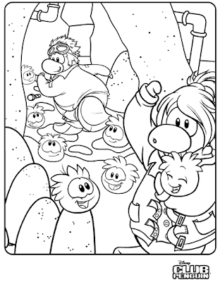 Club Penguin Coloring Pages Of Dino Puffles