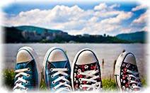 Озеро, даль, лето, ноги