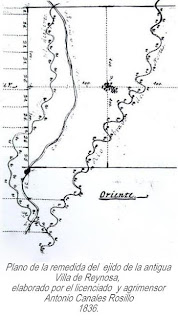 Plano del ejido de la Villa de Reynosa