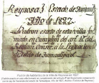 Padron de habitantes villa de Reynosa 1827