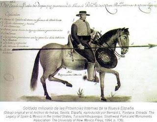 Soldado miliciano de las Provincias Internas Nueva Espana