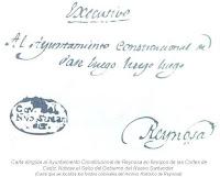 Carta dirigida al Ayuntamiento Constitucional de Reynosa