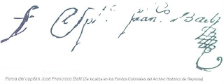 Firma capitan Jose Francisco Balli