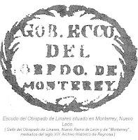 Escudo Obispado Linares siglo XIX