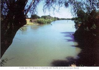 Vista del rio Bravo o Grande del Norte