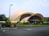 located in the taman mini is the imax theater which