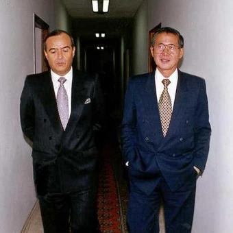 Vlademiro Montesinos con Alberto Fujimori