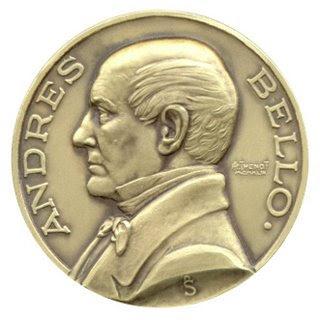 Moneda de Andrés Bello de perfil