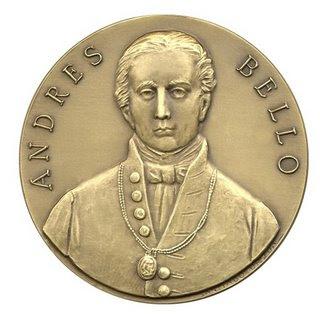 Moneda de Andrés Bello de frente
