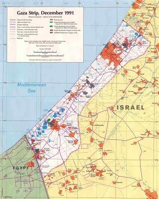 MAPA DE GAZA EN 1991
