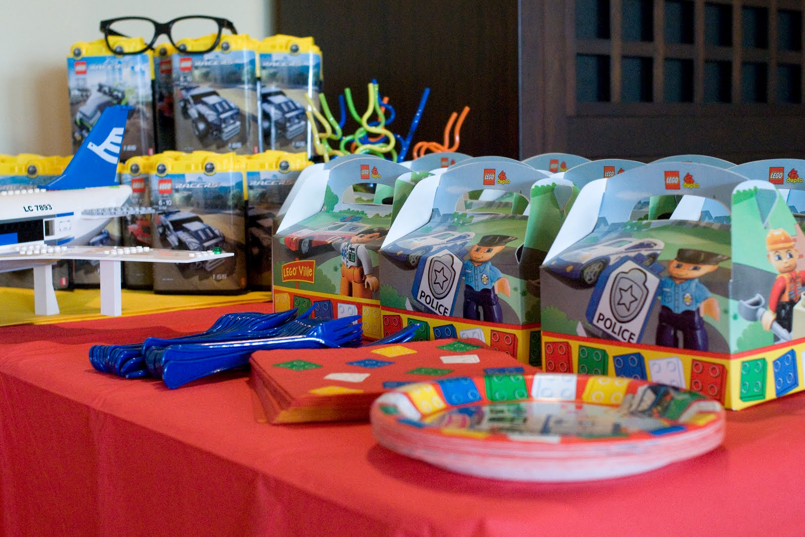 & Lego Birthday Party... - The Polkadot Chair