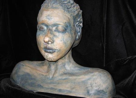 Ceramic Sculpture:  Self Portrait