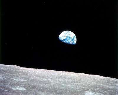 Photo of earthrise from Apollo 8, NASA GRIN collection