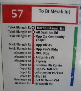 Photo of Singapore bus stop sign