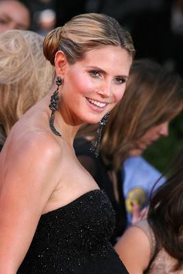 Heidi Klum Dangling Gemstone Earrings