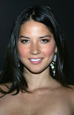 Olivia Munn Gold Chandelier Earrings