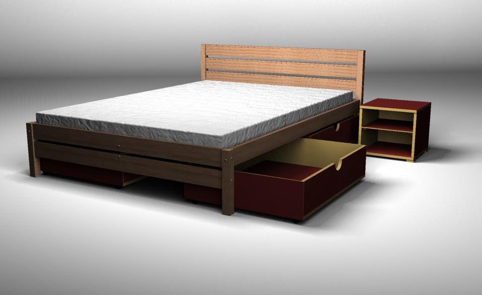 Toco madera la cama respaldo de madera for Tipos de camas de 2plazas