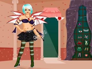 Juego de vestir al hada Cupido Emo