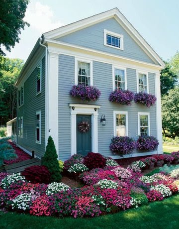 how to plant a window box outdoor this home owner picked just one plant for the window boxes and it looks great the plantings in front how to rockin box the impatient gardener