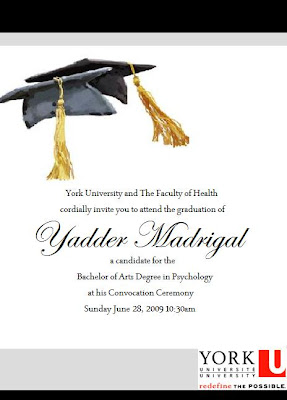 Youre Invited to My Graduation