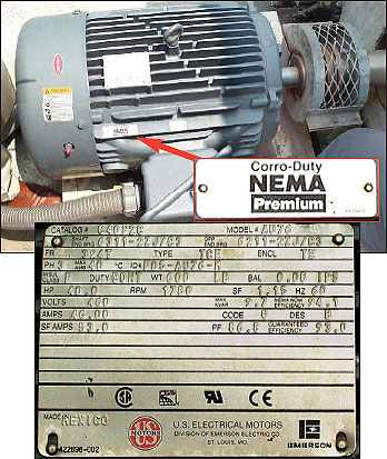 Industrial Knowledge Reading A Motor Name Plate