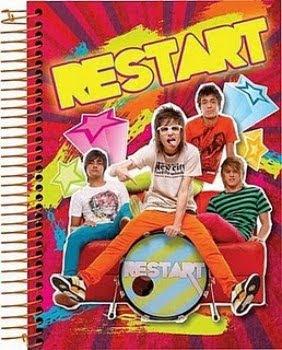 Cadernos da banda Restart 2011 3