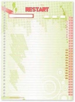 Cadernos da banda Restart 2011 4