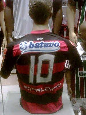 Camisa do Flamengo com nome Ronaldinho