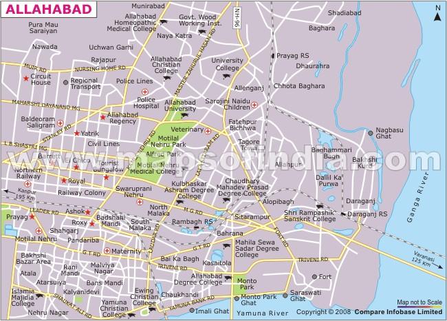 Apna Allahabad Physical Map Of Allahabad - Allahabad map