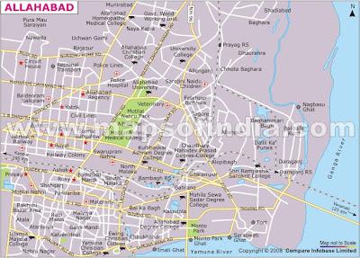 Apna Allahabad Physical Map of Allahabad