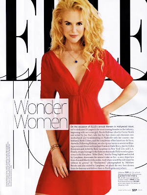 Nicole Kidman Pictures from Elle Magazine