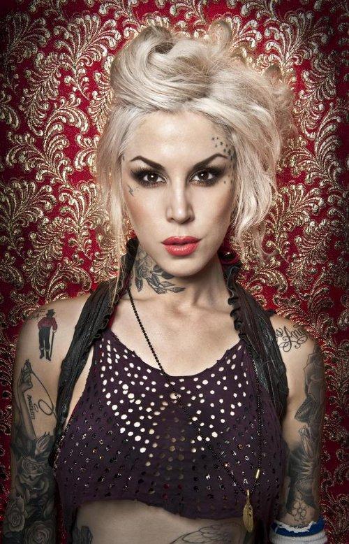 kat von d tattoos. tattoos not name Kat Von D