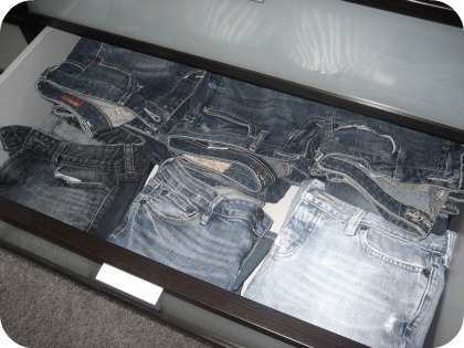 jeans drawer storage organization
