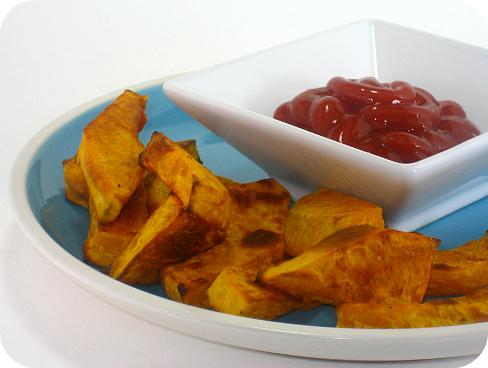 baked kabocha squash french fries