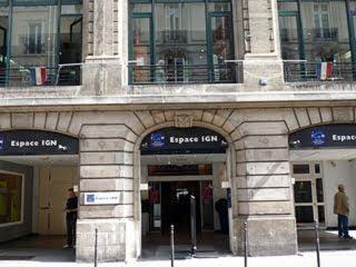 フランス国土地理院のブティック Espace IGN Paris