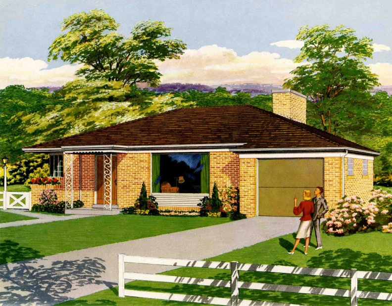 1950s Homes Awesome With American Home 1950s Images