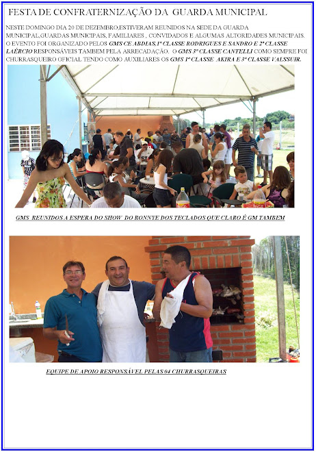 FESTA CONFRATERNIZAÇÃO DA GUARDA MUNICIPAL