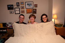 Ryan, me and Ashley and their new afghan