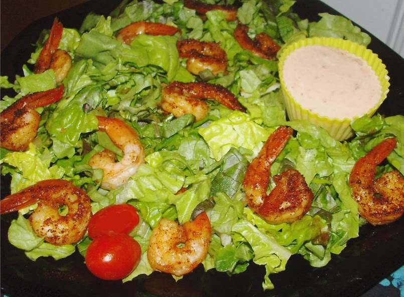 Ancho Chili Shrimp Salad