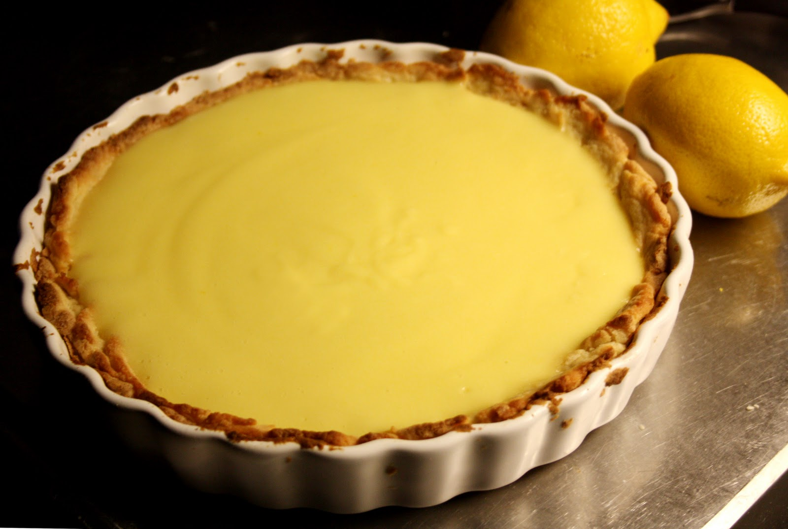 citronpaj med lemon curd