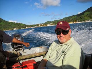 Brad in boat